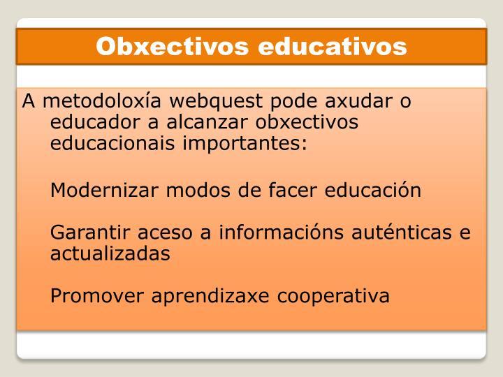Obxectivos educativos