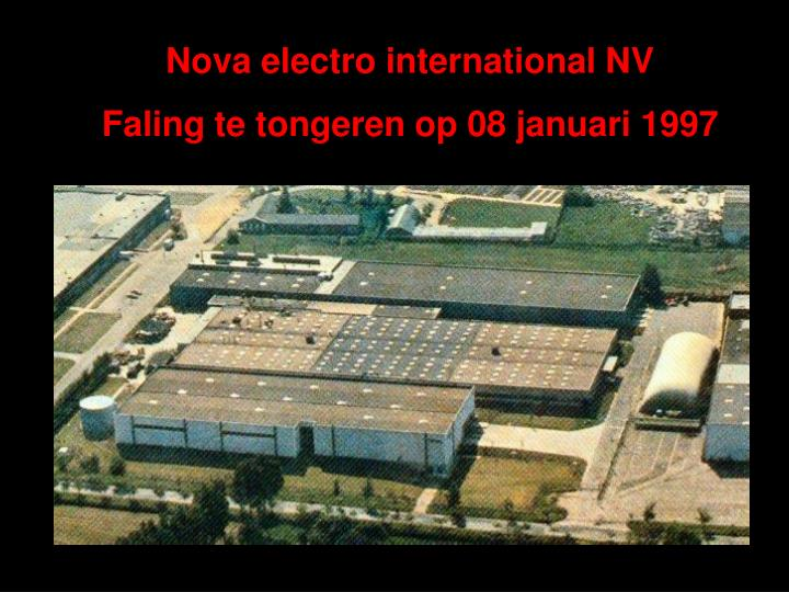 Nova electro international NV