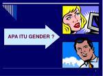 apa itu gender