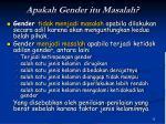 apakah gender itu masalah