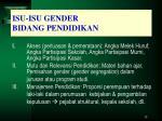 isu isu gender bidang pendidikan