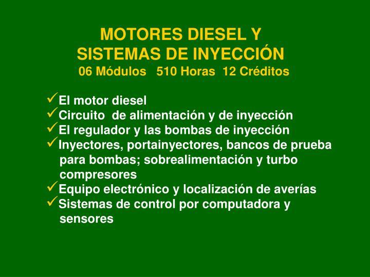 MOTORES DIESEL Y SISTEMAS DE INYECCIÓN