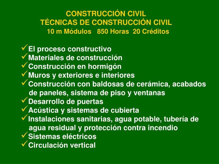CONSTRUCCIÓN CIVIL