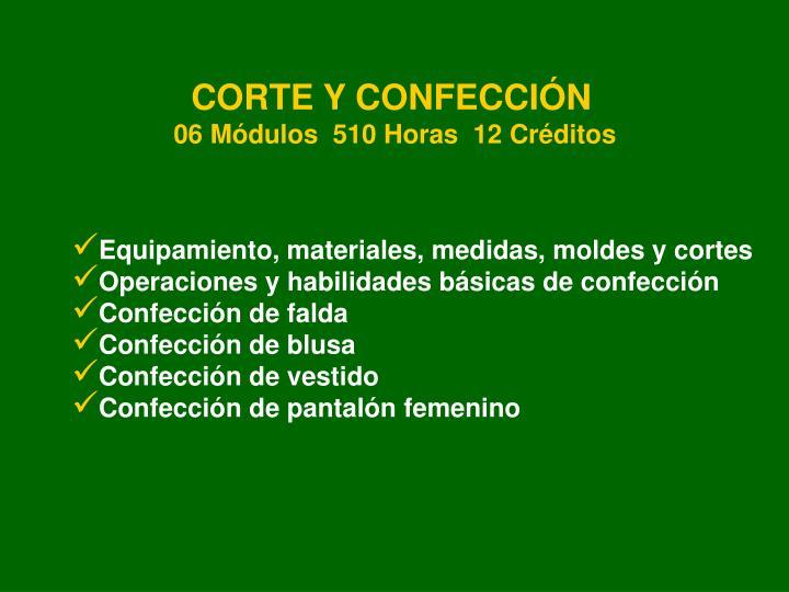 CORTE Y CONFECCIÓN