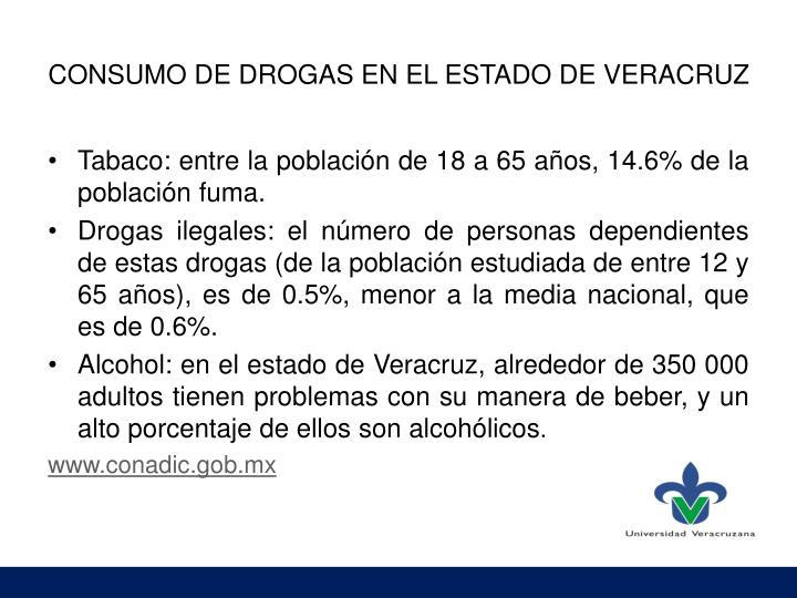 CONSUMO DE DROGAS EN EL ESTADO DE VERACRUZ
