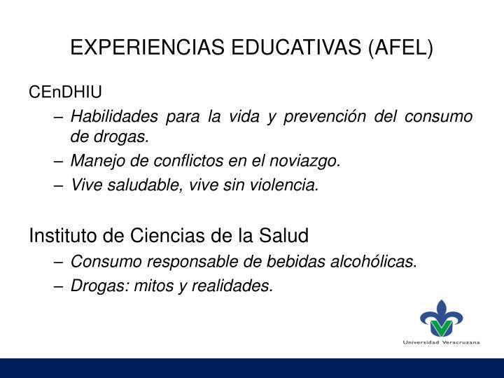 EXPERIENCIAS EDUCATIVAS (AFEL)