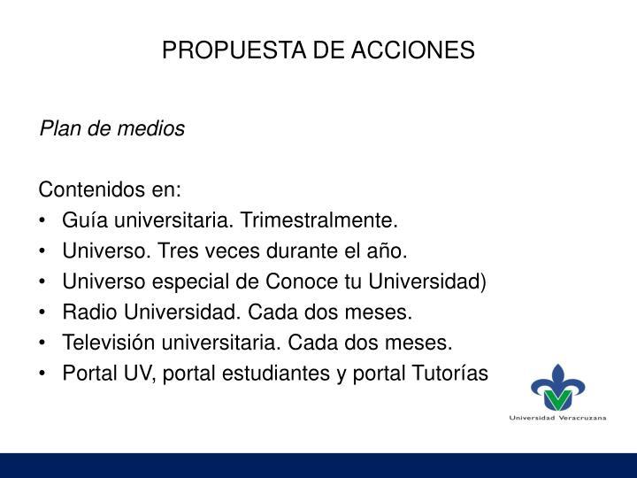 PROPUESTA DE ACCIONES