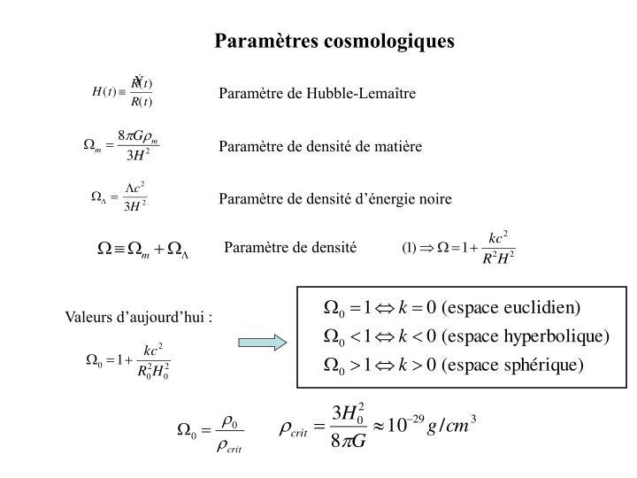 Paramètre de Hubble-Lemaître