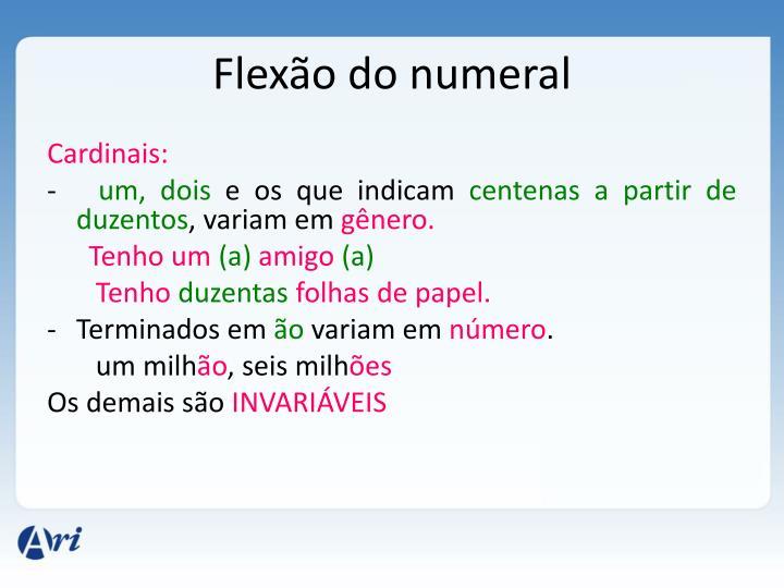 Flexão do numeral