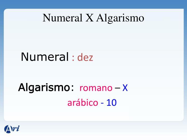 Numeral X Algarismo