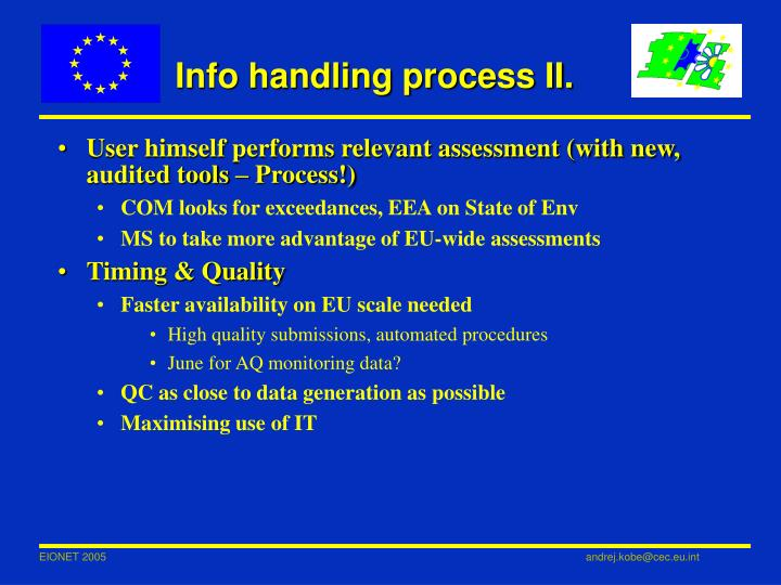 Info handling process II.