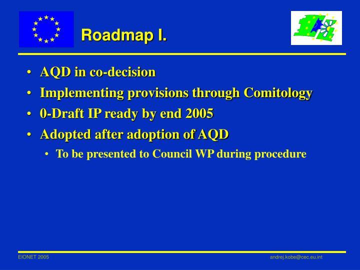 Roadmap I.