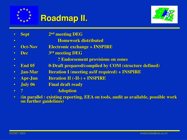 Roadmap II.