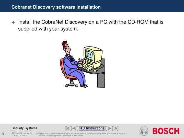 Cobranet Discovery software installation