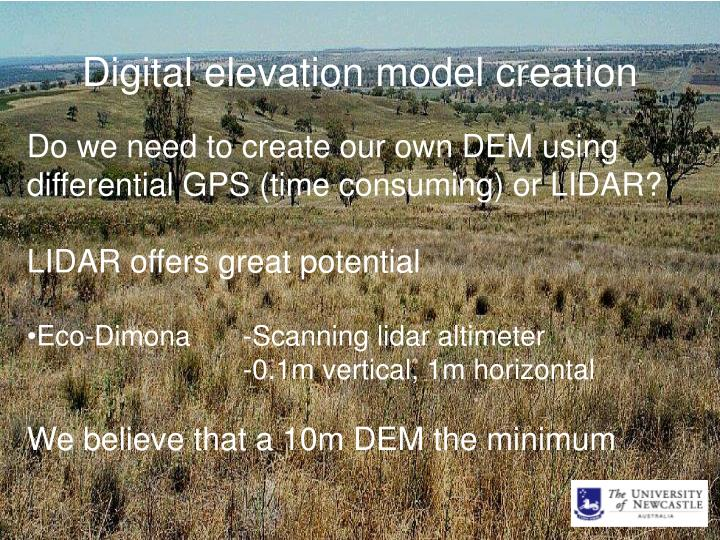 Digital elevation model creation