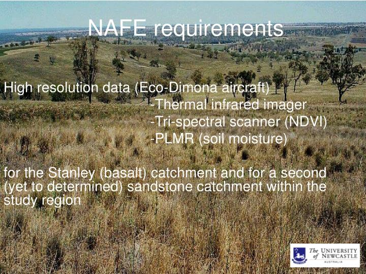 NAFE requirements