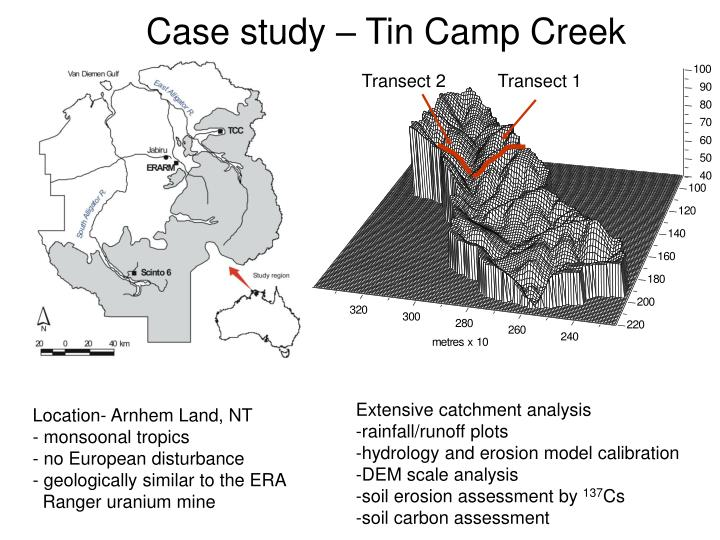 Case study – Tin Camp Creek
