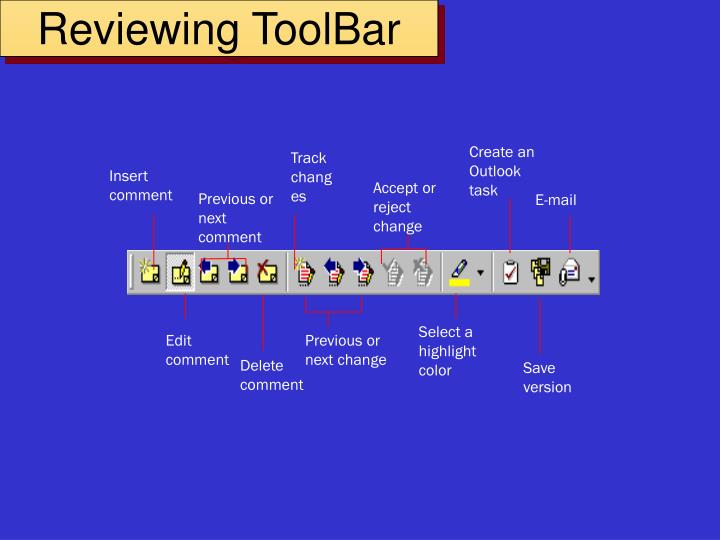 Reviewing ToolBar