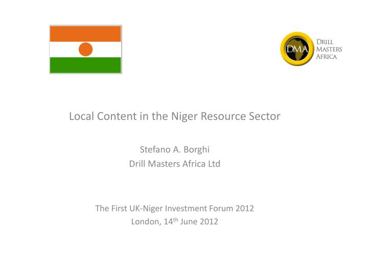 Local Content in the Niger Resource Sector
