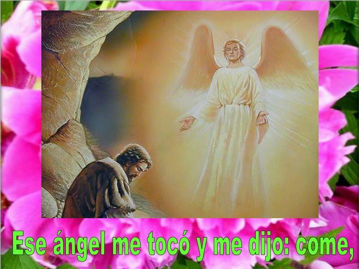 Ese ángel me tocó y me dijo: come,