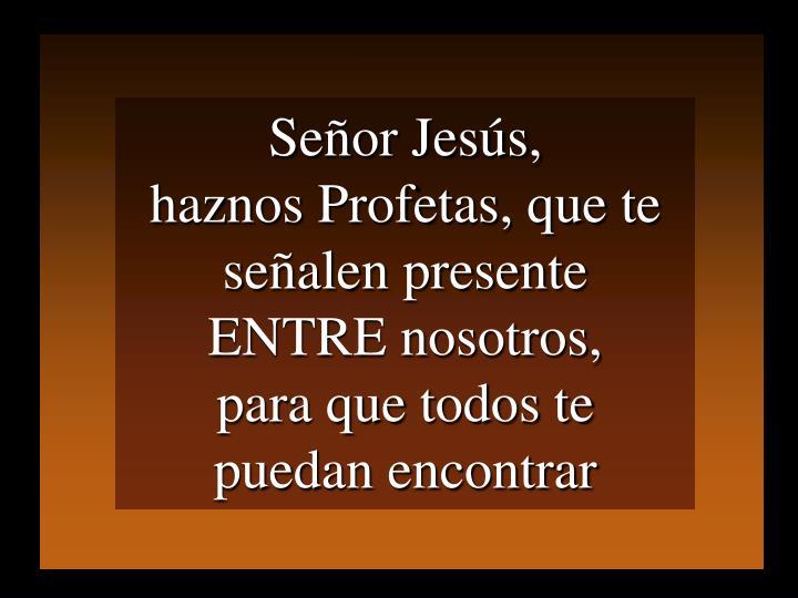 Señor Jesús,