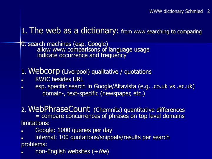 WWW dictionary Schmied