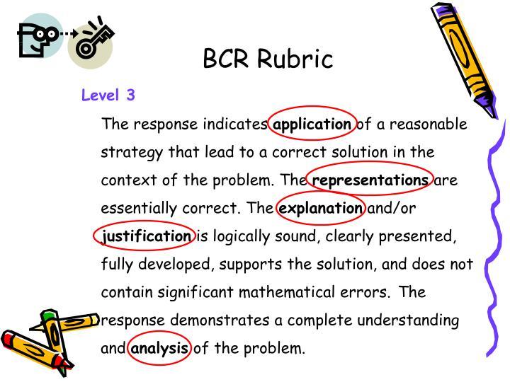 BCR Rubric