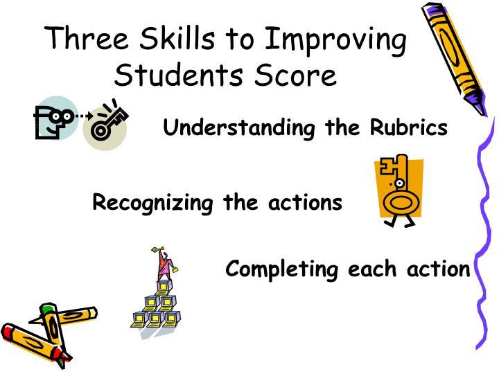 Three Skills to Improving Students Score