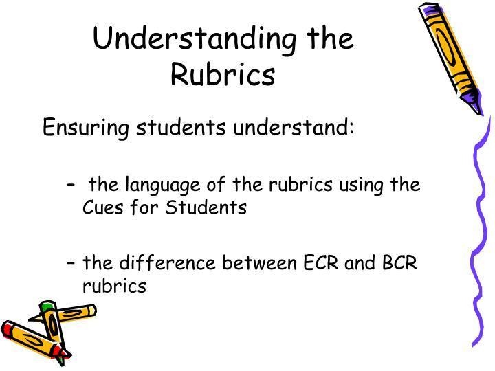Understanding the Rubrics
