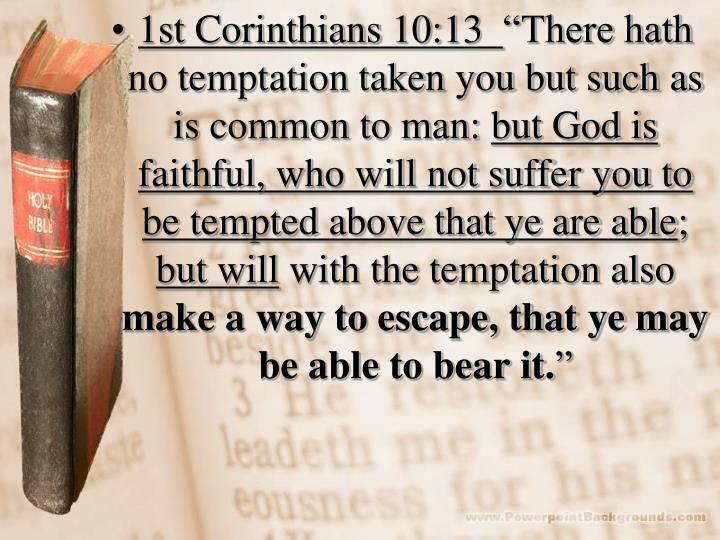 1st Corinthians 10:13