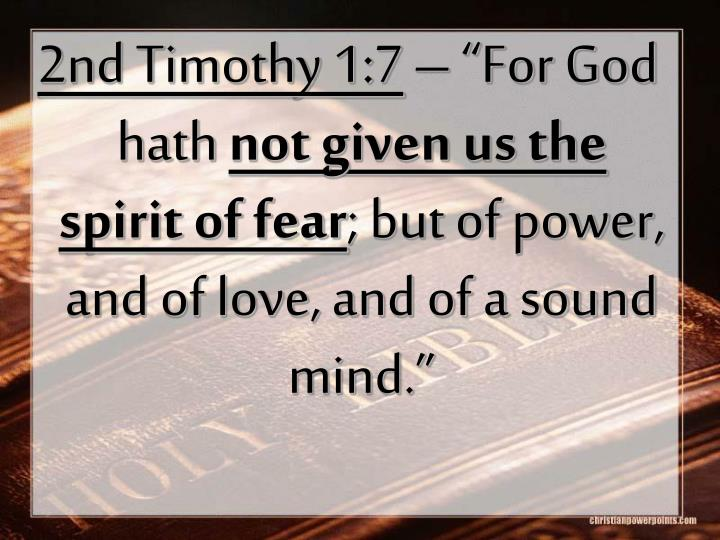 2nd Timothy 1:7