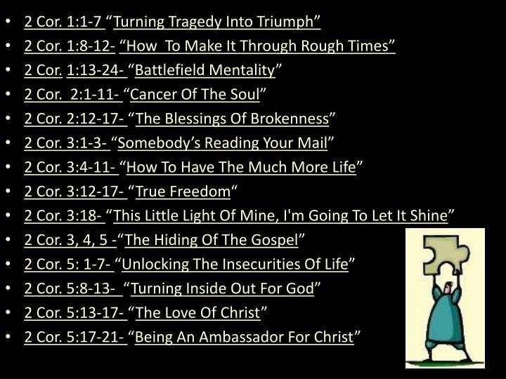 2 Cor. 1:1-7