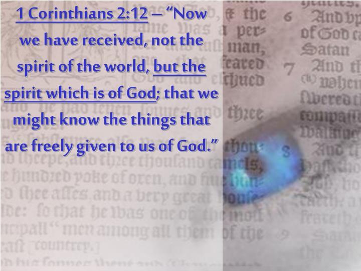 1 Corinthians 2:12