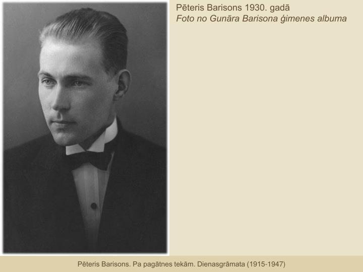 Pēteris Barisons 1930. gadā