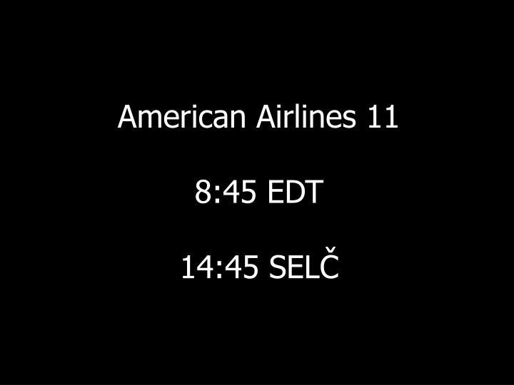 American Airlines 11