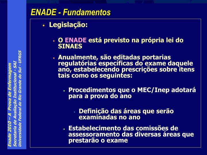 Legislação: