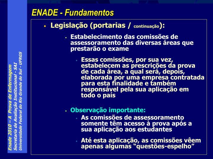 Legislação (portarias /