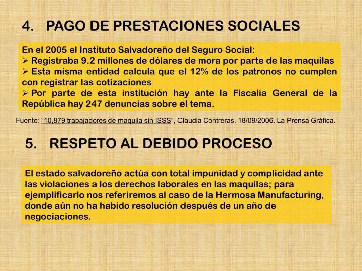 En el 2005 el Instituto Salvadoreño del Seguro Social: