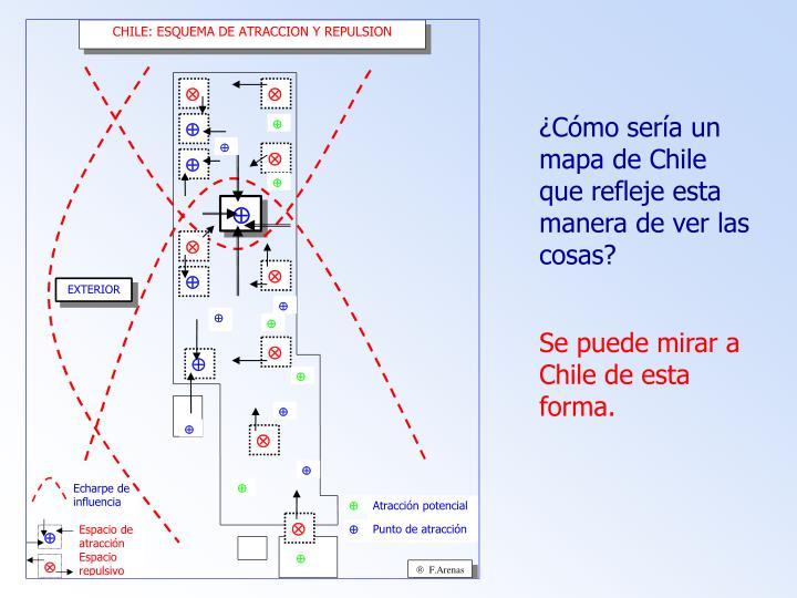¿Cómo sería un mapa de Chile que refleje esta manera de ver las cosas?