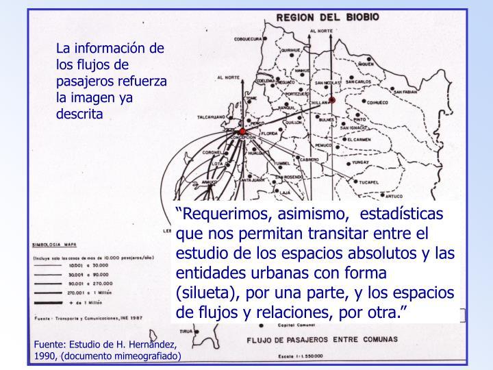 La información de los flujos de pasajeros refuerza la imagen ya descrita