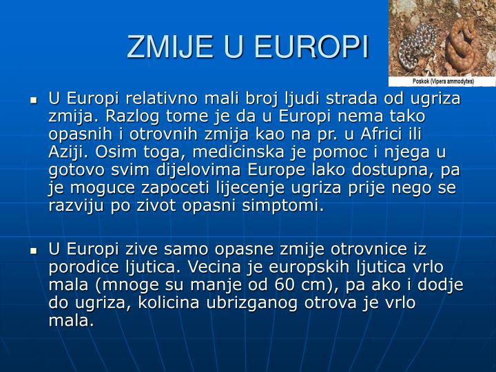 ZMIJE U EUROPI