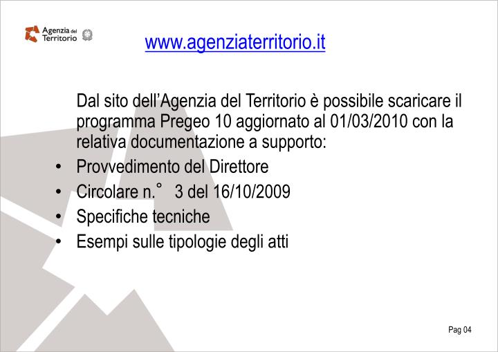 www.agenziaterritorio.it
