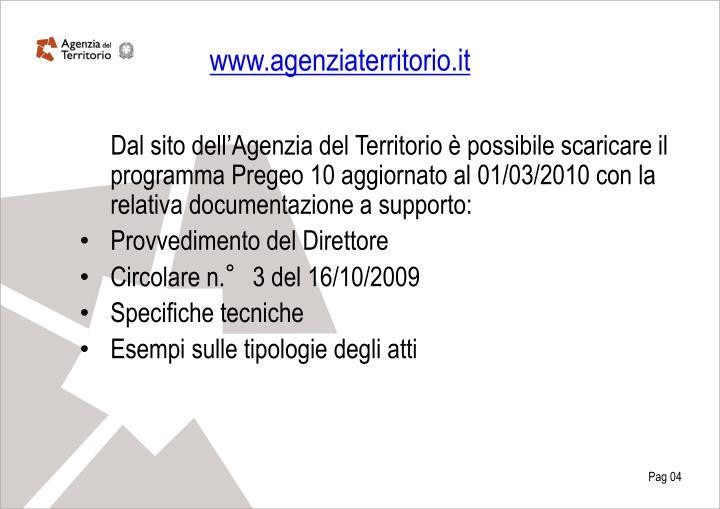 www.agenziaterritorio.it