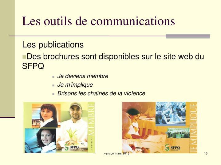 Les outils de communications
