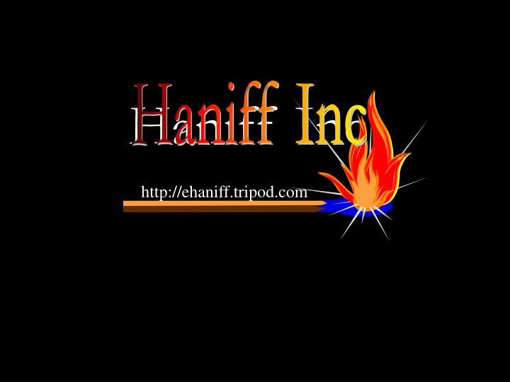 Haniff Inc