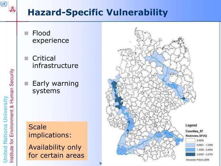 Hazard-Specific Vulnerability