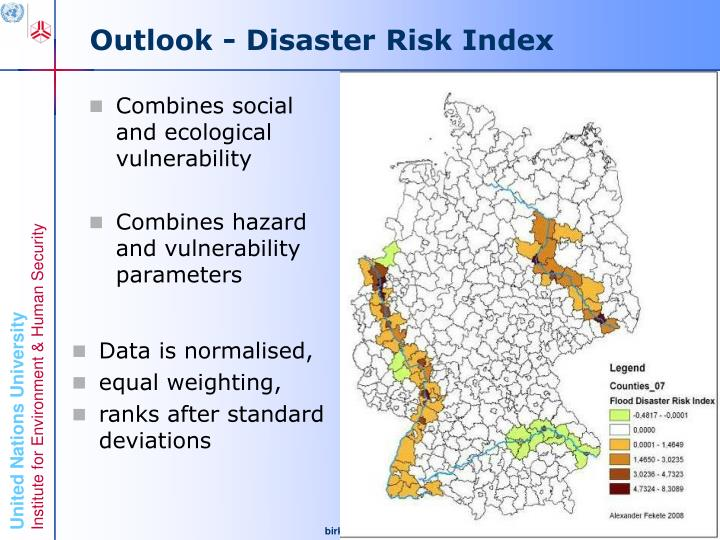 Outlook - Disaster Risk Index