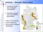 outlook disaster risk index