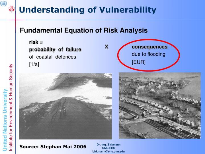 Understanding of Vulnerability