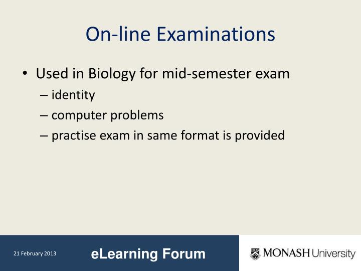On-line Examinations